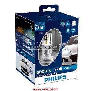Bộ bóng đèn LED Philips X-treme Ultinon H4 chính hãng