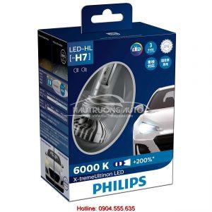 Bóng đèn tăng sáng Philips LED H7 Philips X-treme Ultinon