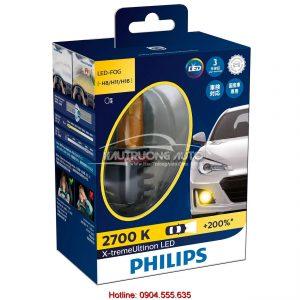 Bóng đèn Philips sương mù LED H8/H11/H16 Philips X-treme Ultinon