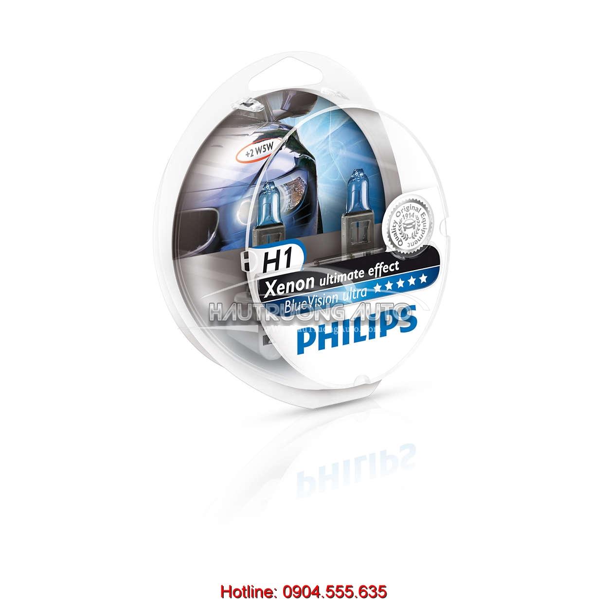 Bóng đèn Philips H1 BlueVision ultra