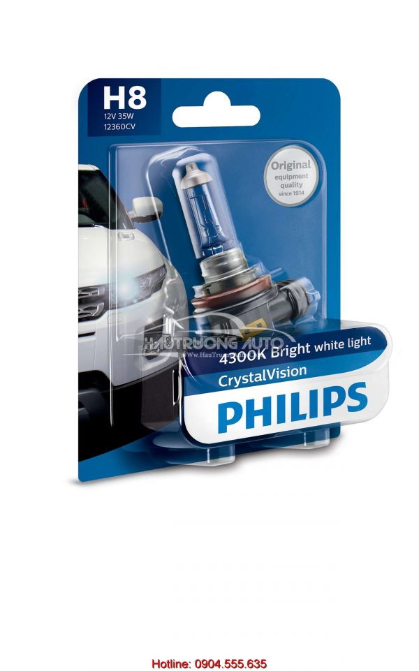 Bóng đèn pha H8 Philips Crystal Vision