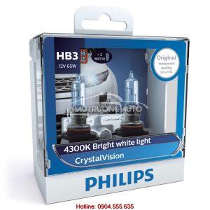 Bóng đèn pha HB3 Philips Crystal Vision