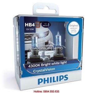 Bóng đèn pha HB4 Philips Crystal Vision