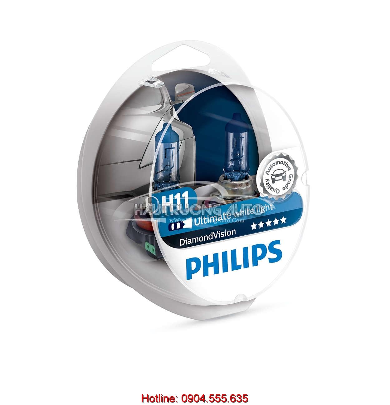 Bóng đèn H11 Philips Diamon Vision 5000K