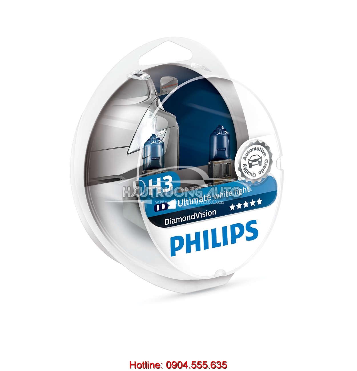 Bóng đèn H3 Philips DiamonVision 5000K