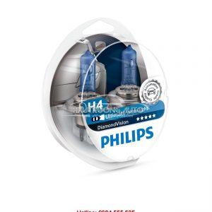 Bóng đèn H4 Philips DiamondVision 5000K