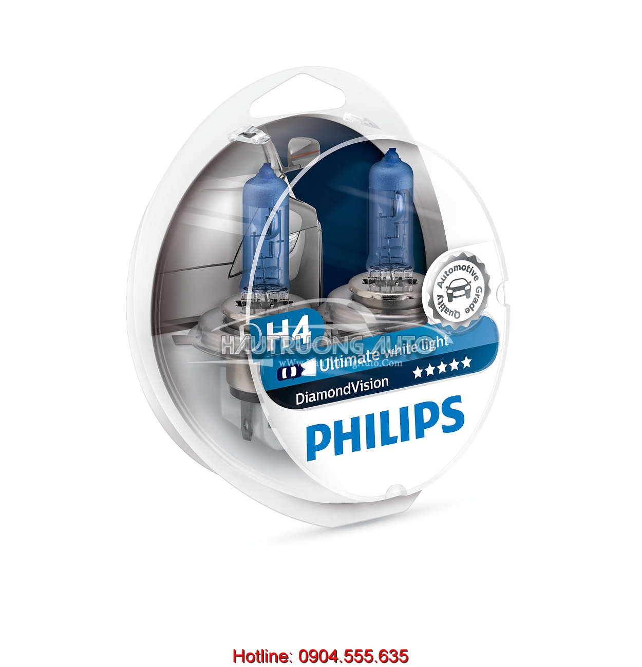Bóng đèn H4 Philips DiamonVision 5000K