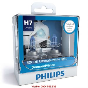 Bóng đèn H7 Philips DiamondVision 5000K