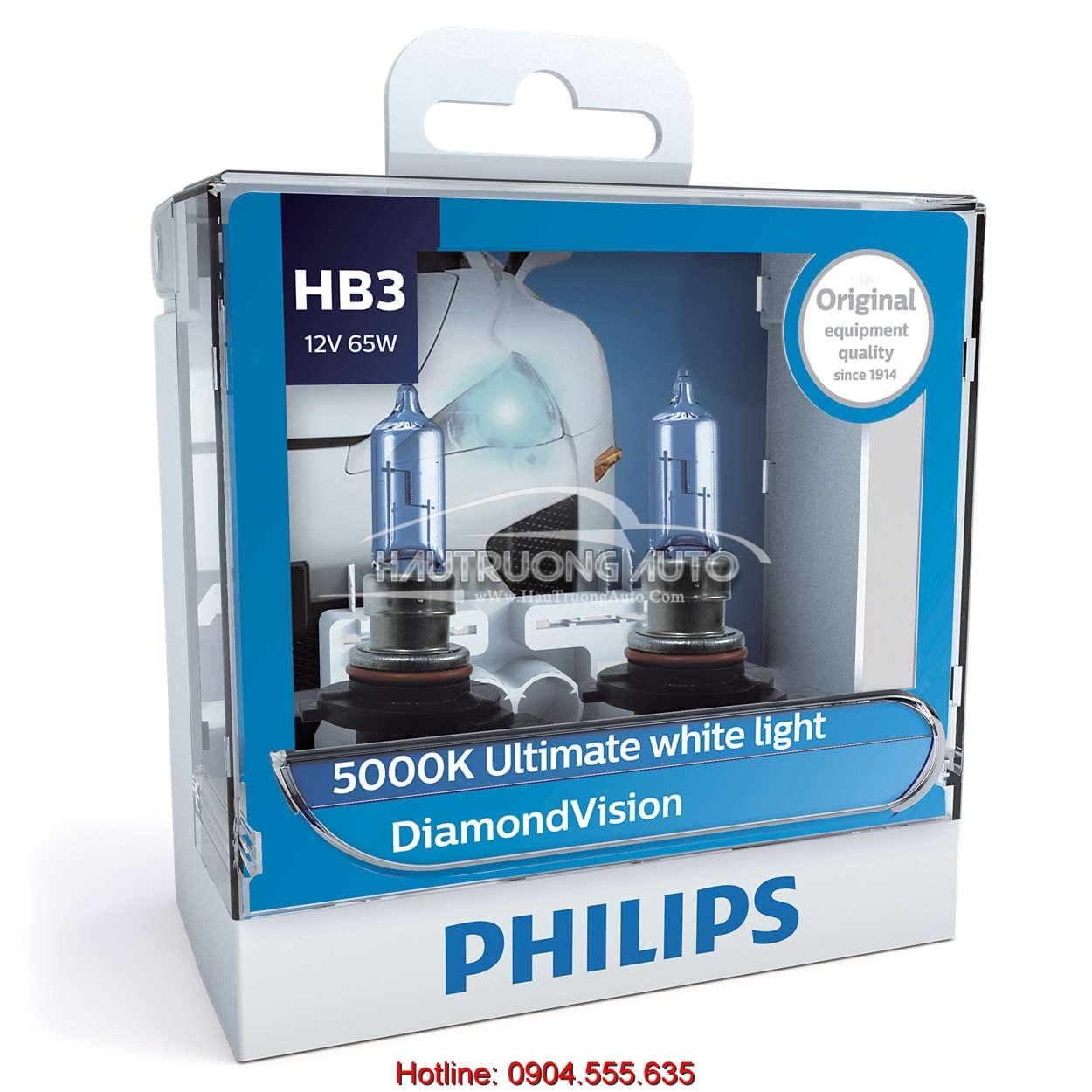 Bóng đèn HB3 Philips DiamonVision 5000K