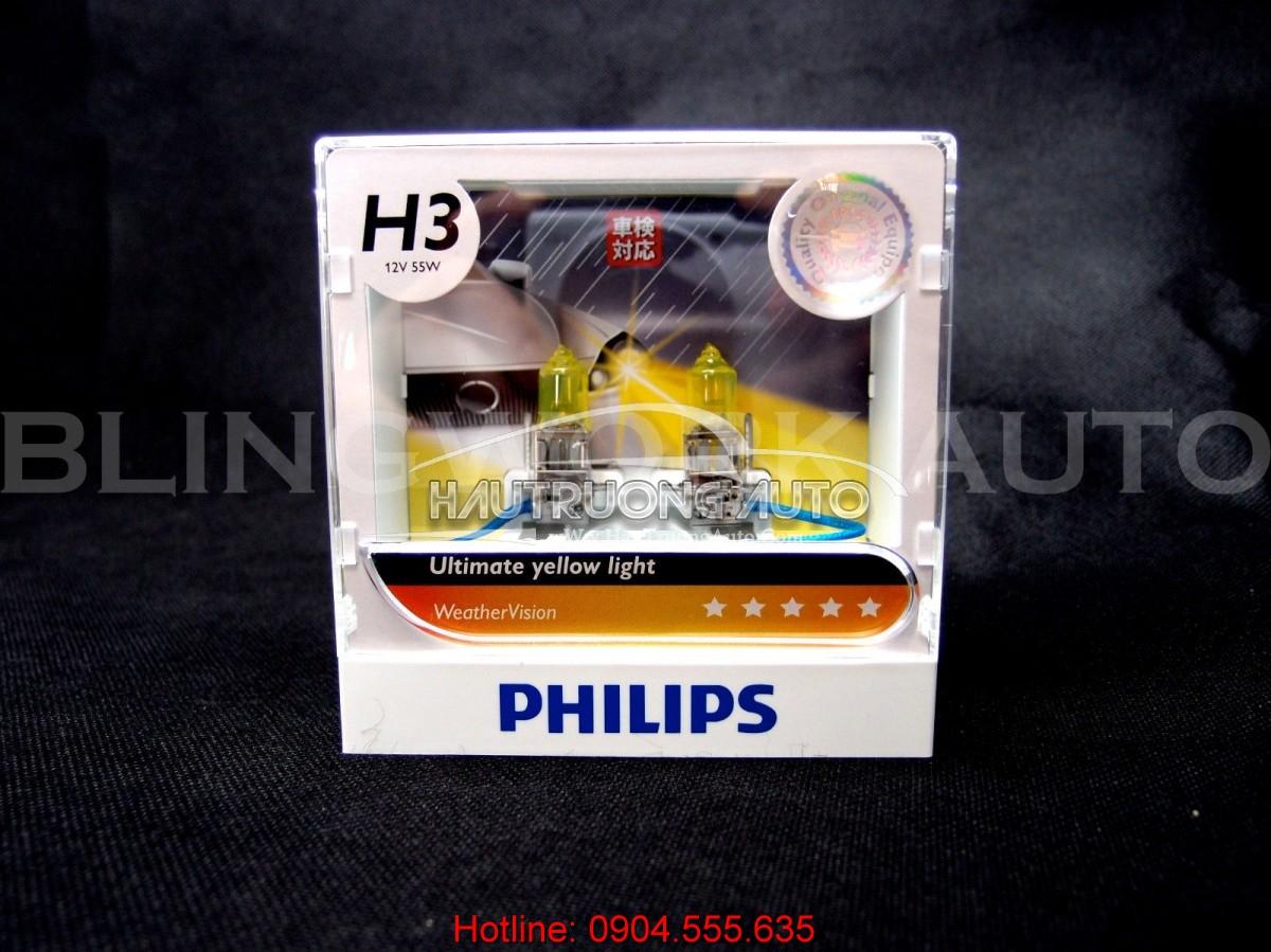 Bóng đèn sương mù Philips H3 WeatherVision