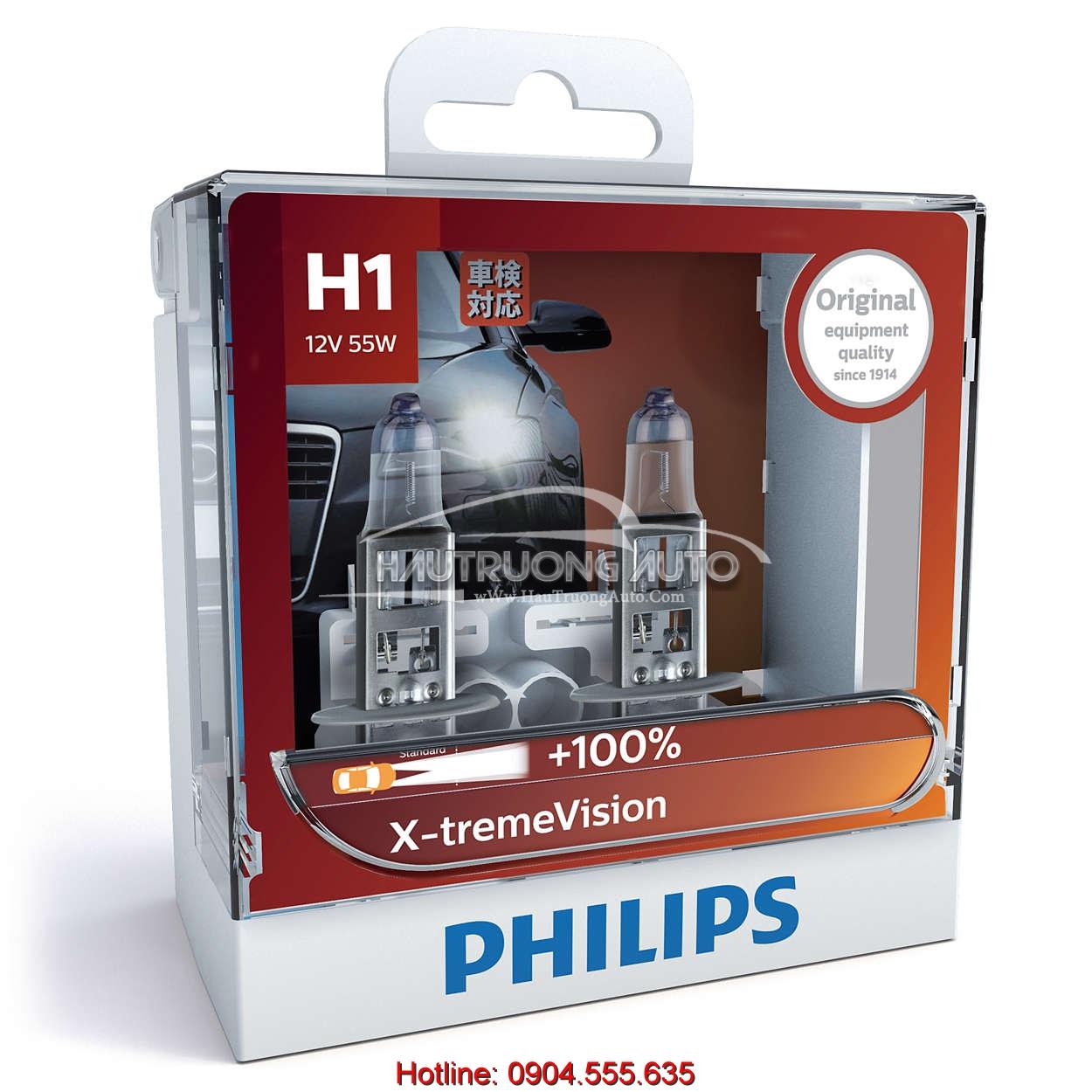 Bóng đèn tăng sáng 100% H1 Philips X-tremeVision