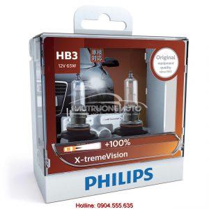 Bóng đèn tăng sáng 100% HB3 Philips X-tremeVision