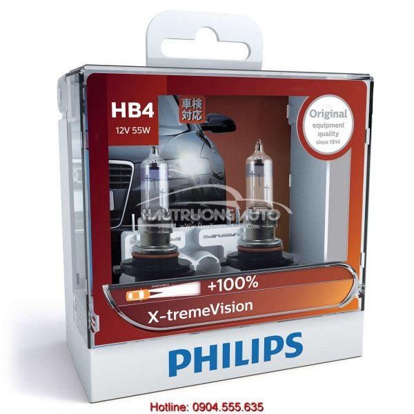 Bóng đèn tăng sáng 100% HB4 Philips X-tremeVision