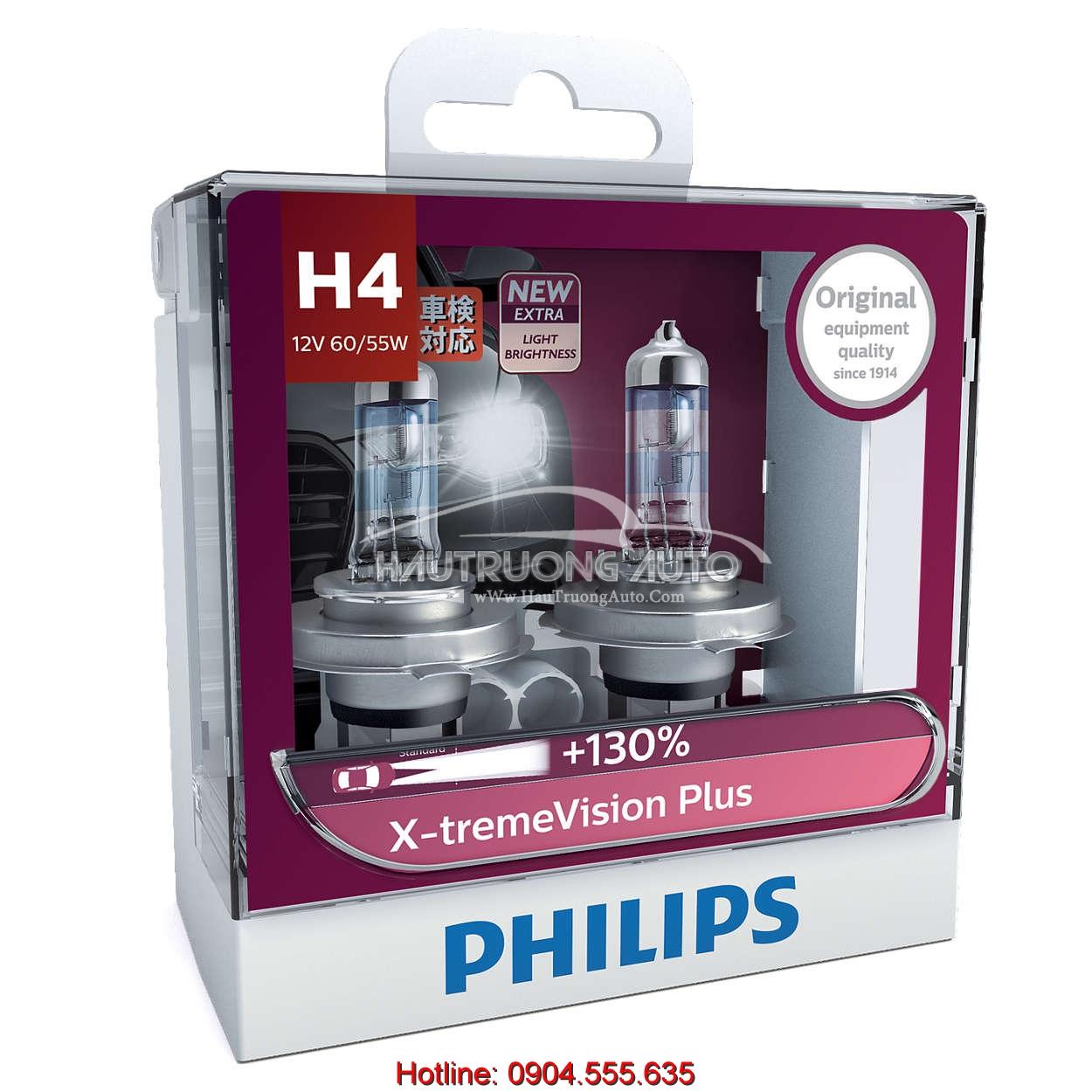Bóng đèn H4 Philips X-tremeVision Plus 100