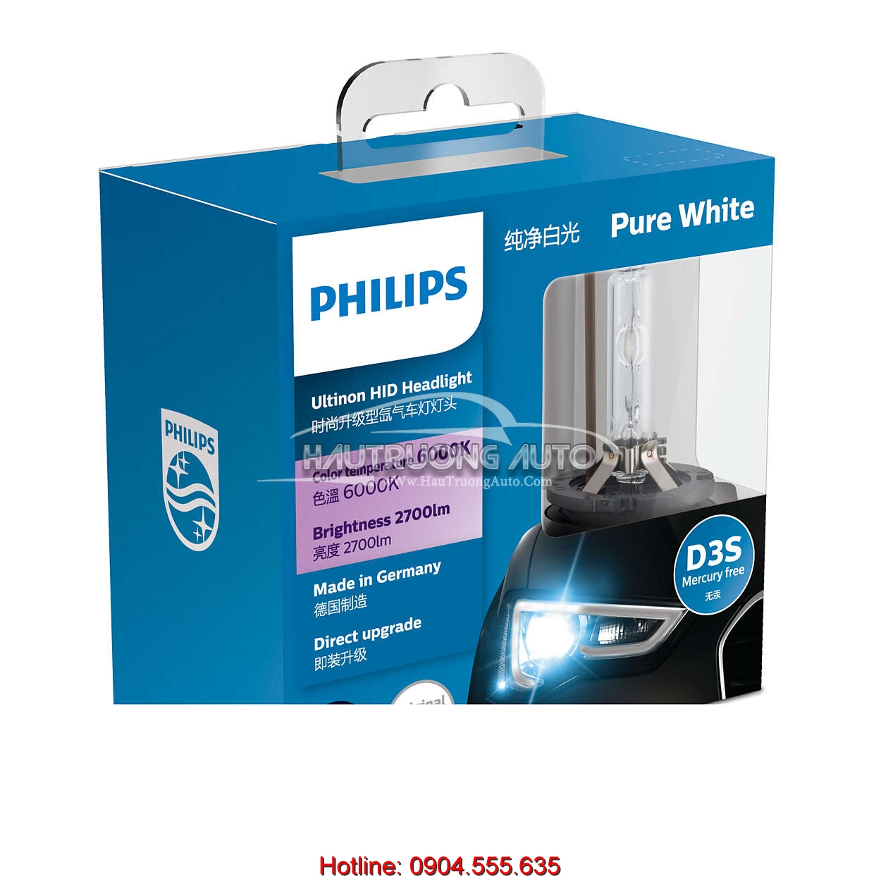 Bóng đèn Philips tăng sáng Ultinon HID Xenon D3S