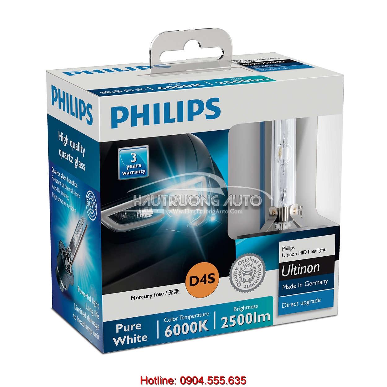 Bóng đèn Philips tăng sáng Ultinon HID Xenon D4S