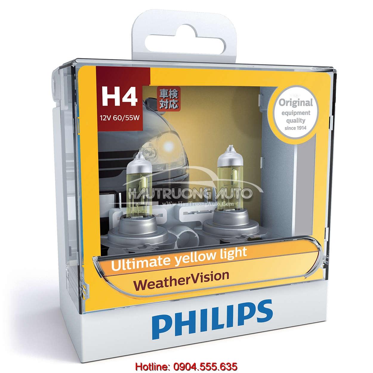 Bóng đèn sương mù Philips H4 WeatherVision
