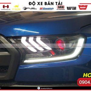 Bộ đèn pha LED nguyên bộ kiểu Mustang 3D 2018 cho Ford Ranger