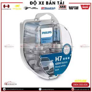 Bóng đèn H7 Philips WhiteVision cường độ cao