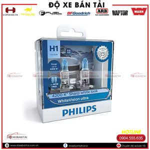 Bóng đèn H1 Philips Halogen WhiteVision cường độ cao