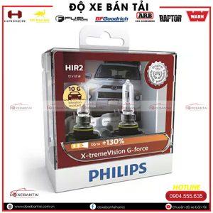 Bóng đèn HIR2 Philips Philips X-tremeVision G-force tăng sáng 130%