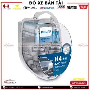 Bóng đèn H4 Philips WhiteVision cường độ cao