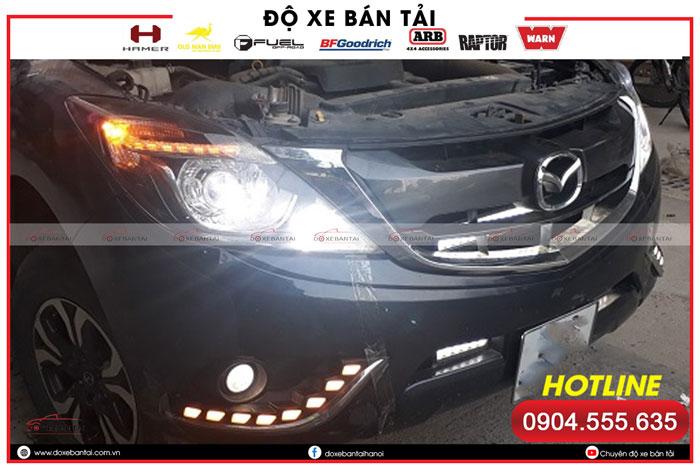 Độ đèn pha xe Mazda BT50 – giải pháp tăng sáng hiệu quả